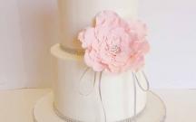 Large Pink Sugar Flower