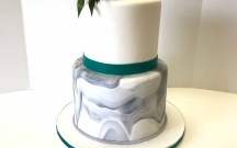 Marble Cake with Teal Band