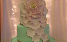 Mint and Blush Rose Petal Cascade
