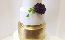 Gold Painted Fondant