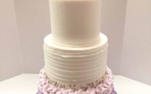 Purple Ombre Buttercream Textures
