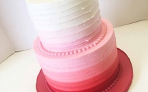 Red Ombre Textured Buttercream