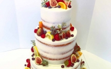 Semi Naked Cake with Fruits