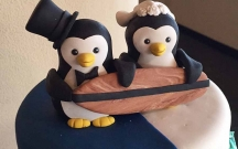 Sugar Penguin Cake Topper