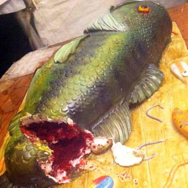 Realistic Bass Fish Groom's Cake