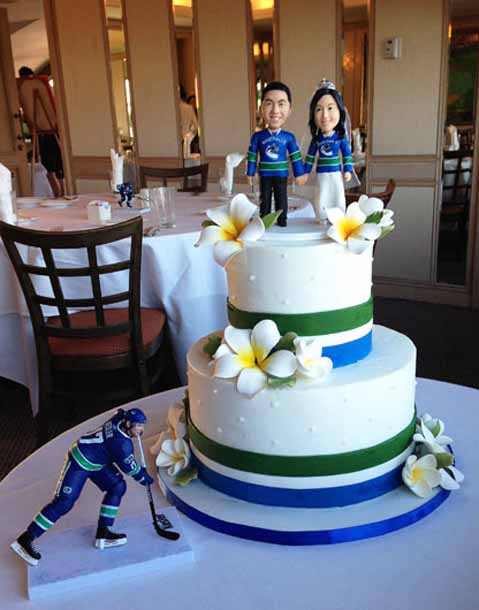 Canuck Themed Wedding Cake A Cake Life