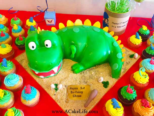 Chases 1st Birthday 3D Baby Dinosaur Cake A Cake Life
