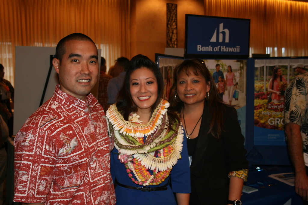 Myself with our Bank of Hawaii Business Bankers Reid Hinaga & Mel Racadio