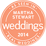 As seen in Martha Stewarts Weddings 2014
