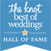 Hall of Fame award from The Knot